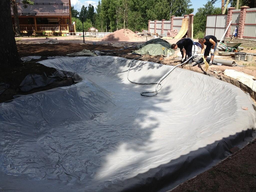 Гидроизоляция пруда полимочевиной