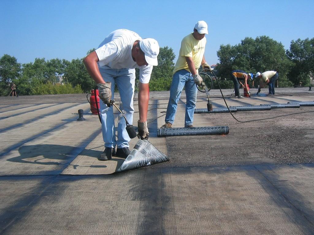 Монтаж рулонной гидроизоляции