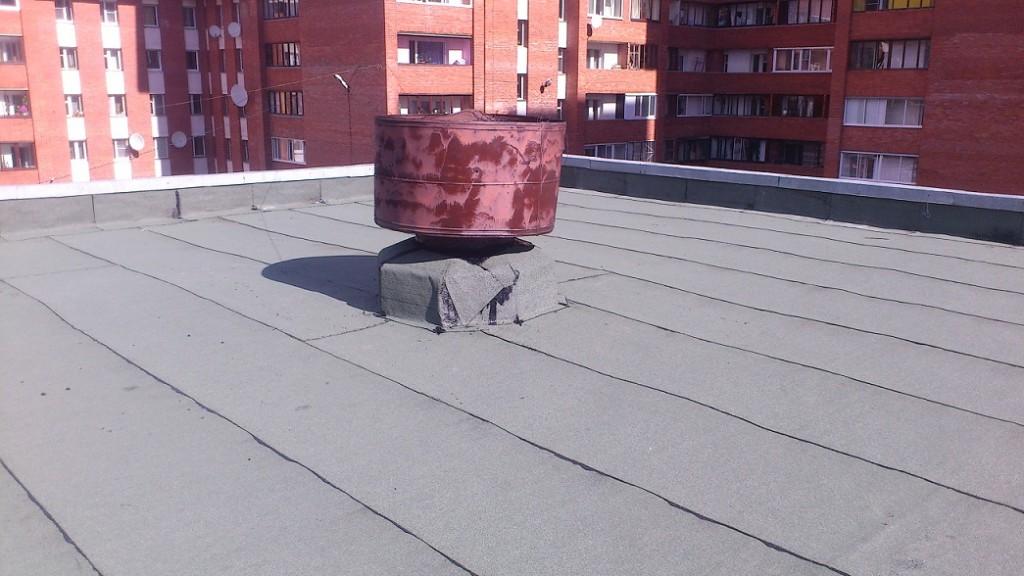 крыша многоквартирного дома после ремонта